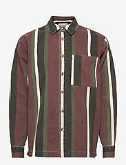 HAN Kjøbenhavn - Boxy Shirt Long Sleeve - casual overhemden - dark stripe - 0