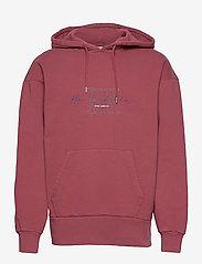 HAN Kjøbenhavn - Bulky Hoodie - hoodies - faded dark red hk - 1
