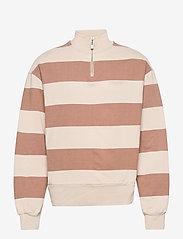 HAN Kjøbenhavn - Half Zip Sweat - truien - off white stripe - 0