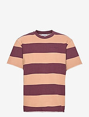 HAN Kjøbenhavn - Chunky Tee - korte mouwen - brown stripe - 0