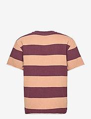 HAN Kjøbenhavn - Chunky Tee - korte mouwen - brown stripe - 1