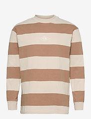 HAN Kjøbenhavn - Boxy Tee Long Sleeve - lange mouwen - off white stripe - 1