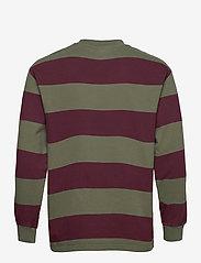 HAN Kjøbenhavn - Boxy Tee Long Sleeve - truien - burgundy stripe - 2