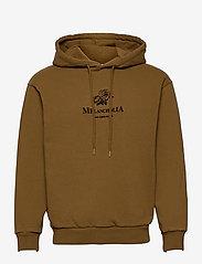 HAN Kjøbenhavn - Artwork Hoodie - hoodies - bronze brown - 0