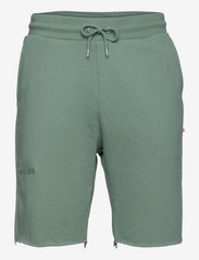 Sweat shorts - DUSTY GREEN LOGO