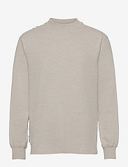 HAN Kjøbenhavn - Distressed Tee Long Sleeve - basic t-shirts - distressed grey melange - 0