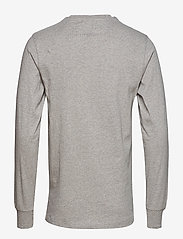 HAN Kjøbenhavn - Casual Long Sleeve Tee - basic t-shirts - grey logo - 2
