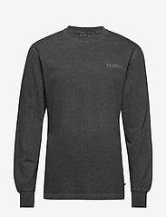HAN Kjøbenhavn - Casual Long Sleeve Tee - basic t-shirts - dark grey logo - 1