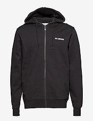 HAN Kjøbenhavn - Zip Hoodie - hoodies - black logo - 1
