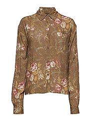 Box Shirt - BROWN FLOWERS
