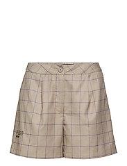 Suit Shorts - SAND WINDOWPANE