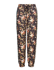 Track Pants - CHECK FLOWER