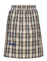 Knee Skirt - SAND TARTAN