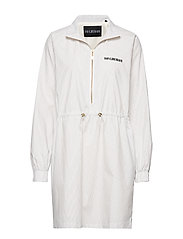 Track dress - WHITE STRIPED