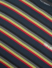 HAN Kjøbenhavn - Boyfriend Tee - t-shirts - blue stripe - 2