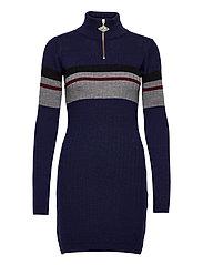 Half Zip Dress - NAVY