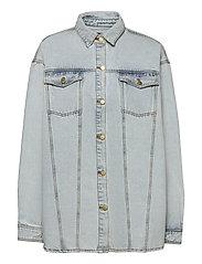 Boyfriend Shirt - LIGHT STONE WASH