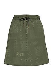 Track Skirt - GREEN TRIBAL