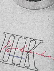 HAN Kjøbenhavn - Boyfriend Tee - t-shirts - grey melange hk - 2