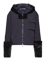 Fur Hood Jacket - NAVY