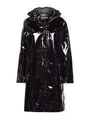 Lacquer Coat - BLACK