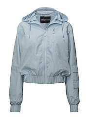 Hood Track Top - LIGHT BLUE NYLON