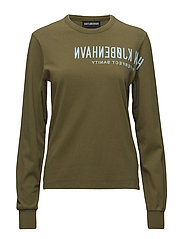 Reverse Long Sleeve Tee - ARMY