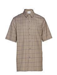 Boxy Shirt - SAND WINDOWPANE