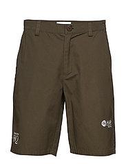 Canvas Suit Shorts - OLIVE