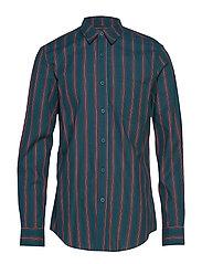 One Pocket Shirt - GREEN STRIPE