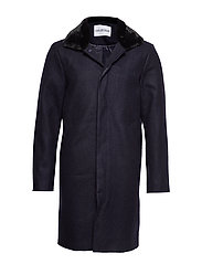 Winters Trench - NAVY WOOL