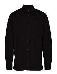 Boxy Shirt - BLACK TWILL