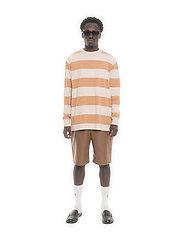HAN Kjøbenhavn - Boxy Tee Long Sleeve - lange mouwen - off white stripe - 0