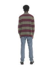 HAN Kjøbenhavn - Boxy Tee Long Sleeve - truien - burgundy stripe - 4