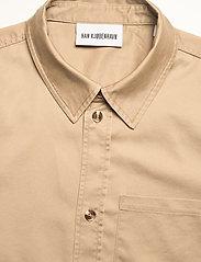 HAN Kjøbenhavn - Boxy Shirt SS - oxford overhemden - olive grey - 3