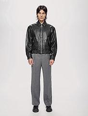 HAN Kjøbenhavn - Bomber Jacket - leren jassen - black leather - 0