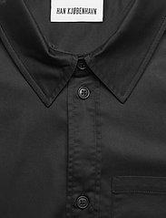 HAN Kjøbenhavn - Boxy Shirt SS - oxford overhemden - black - 3