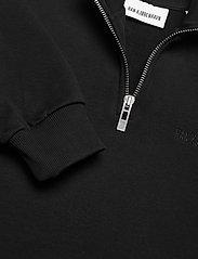 HAN Kjøbenhavn - Half Zip Sweat - basic sweatshirts - black logo - 2