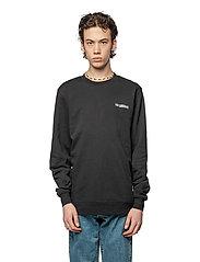 HAN Kjøbenhavn - Casual Long Sleeve Tee - basic t-shirts - black logo - 0