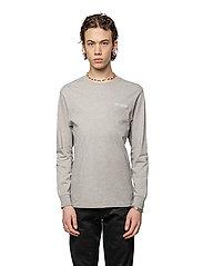 HAN Kjøbenhavn - Casual Long Sleeve Tee - basic t-shirts - grey logo - 0
