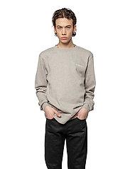 HAN Kjøbenhavn - Casual Crew - basic sweatshirts - grey logo - 0