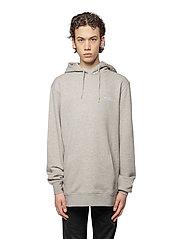 HAN Kjøbenhavn - Casual Hoodie - hoodies - grey melange - 0