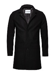 Bankers Trench - BLACK WOOL