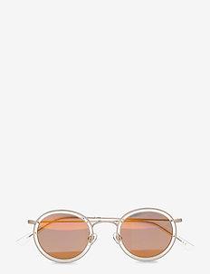 Drum - ronde zonnebril - white gold