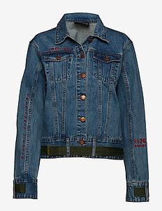 Velcro Denim Jacket - jeansjackor - worn out