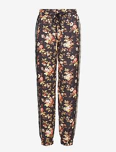 Track Pants - sweatpants - check flower