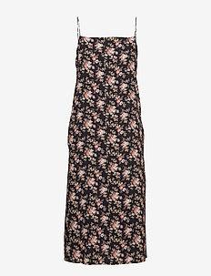 Summer Dress - midiklänningar - black flower