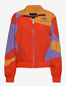 Track Curve Top - sweatshirts - multi color nylon