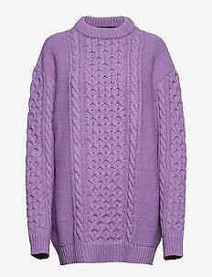 Boyfriend Knit - tröjor - purple