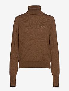 Knit Turtleneck - polotröjor - brown